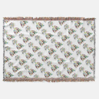Medical Gifts Heart and Lungs Motif Throw Blanket