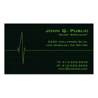 Medical Heart Monitor Business Card