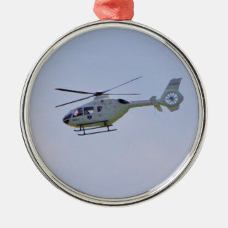 Medical Helicopter Metal Ornament