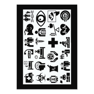 Medical Icons bold black and white design Card