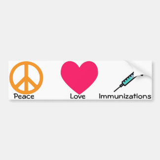 Medical/immunization bumper sticker