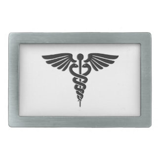 Medical Insignia Caduceus Rectangular Belt Buckle