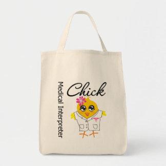 Medical Interpreter Chick Grocery Tote Bag