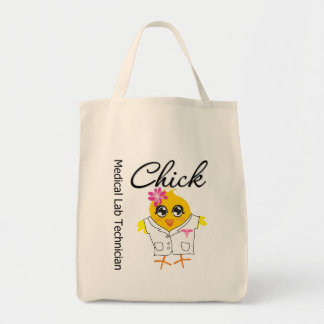 Medical Lab Technician Chick Grocery Tote Bag