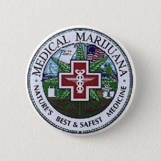 medical marijuana 6 cm round badge