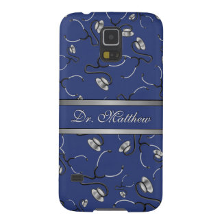 Medical, Nurse, Doctor themed stethoscopes, Name Case For Galaxy S5