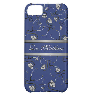 Medical, Nurse, Doctor themed stethoscopes, Name iPhone 5C Case