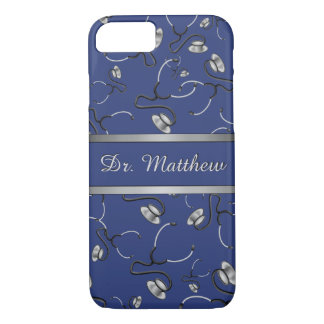 Medical, Nurse, Doctor themed stethoscopes, Name iPhone 8/7 Case