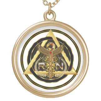 Medical Nurse Logo Round Only VIEW ABOUT Design Pendants
