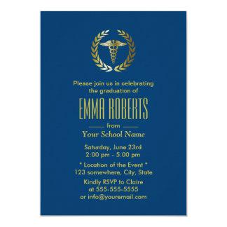 Medical & Nursing School Navy Blue Graduation Card