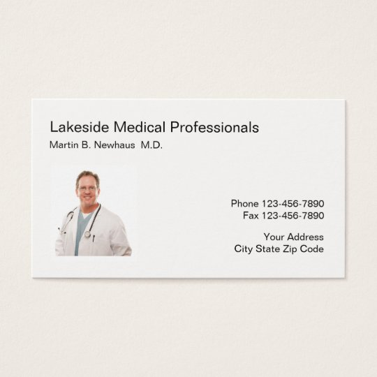 Medical Office Photo Business Business Card