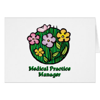 Medical Practice Manager Blooms Card