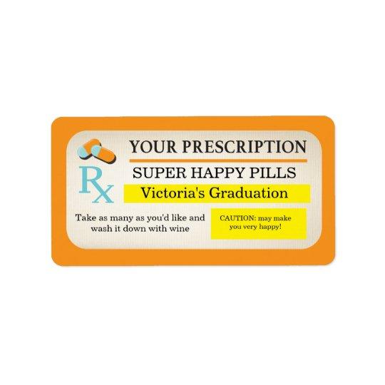 Medical prescription labels Nurse party favours