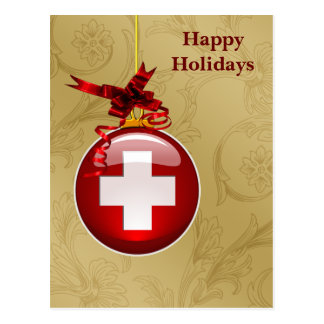 medical profession red cross sign Holiday Cards Postcard