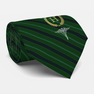 Medical Professional Framed Monogram Green Tie