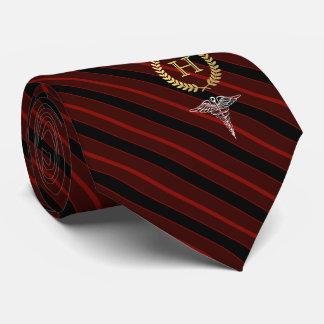 Medical Professional Framed Monogram Red Tie