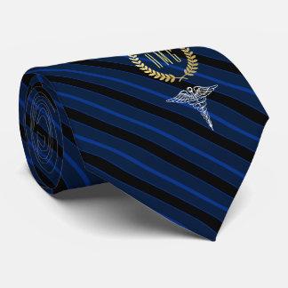 Medical Professional Monogrammed Blue Tie