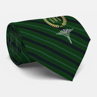 Medical Professional Monogrammed Green Tie