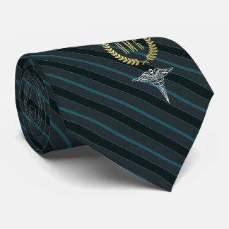 Medical Professional Monogrammed Slate Grey Tie