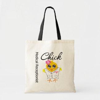 Medical Receptionist Chick Budget Tote Bag
