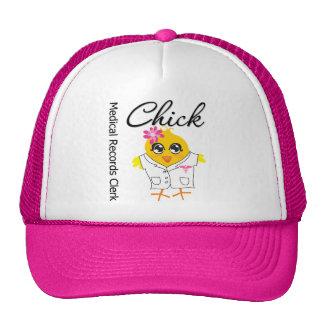 Medical Records Clerk Chick Trucker Hat