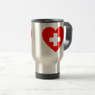 Medical red heart cross tumbler travel mug