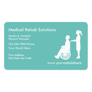 Medical Rehabilitation Services Pack Of Standard Business Cards
