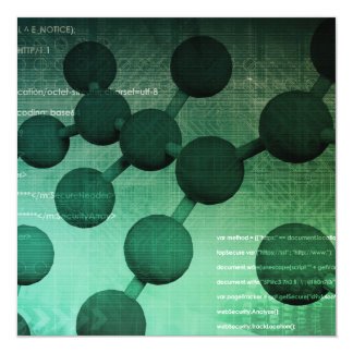 Medical Research and Corporate Technology As Art 13 Cm X 13 Cm Square Invitation Card