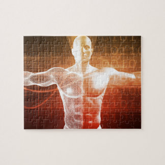Medical Research on the Human Body as Concept Jigsaw Puzzle