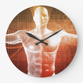 Medical Research on the Human Body as Concept Large Clock