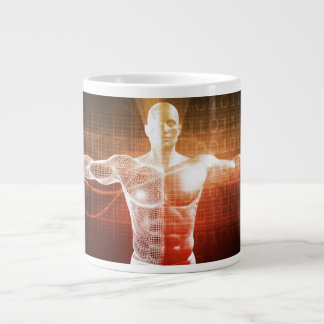 Medical Research on the Human Body as Concept Large Coffee Mug