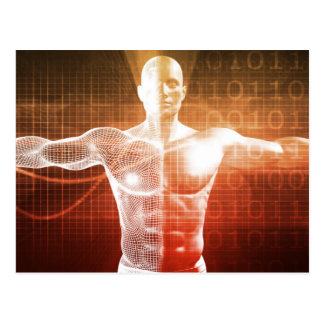 Medical Research on the Human Body as Concept Postcard