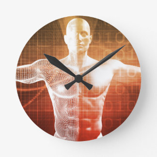 Medical Research on the Human Body as Concept Round Clock