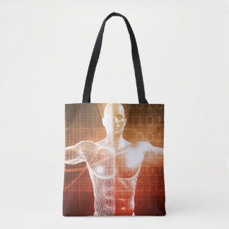 Medical Research on the Human Body as Concept Tote Bag