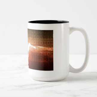 Medical Research on the Human Body as Concept Two-Tone Coffee Mug