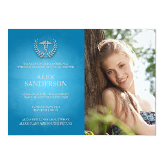 Medical School Graduation Announcement Photo Card