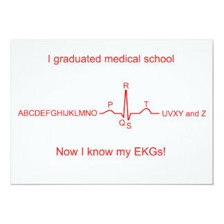 Medical School Graduation Cards 13 Cm X 18 Cm Invitation Card