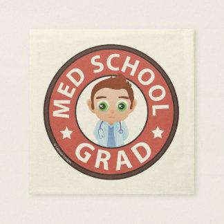 Medical School Graduation Paper Napkin
