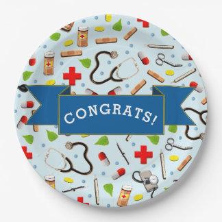 medical school graduation paper plate