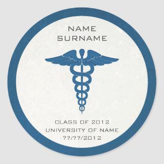 Medical School Graduation Stickers/Envelope Seals Round Sticker