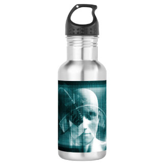 Medical Science Futuristic Technology as a Art 532 Ml Water Bottle