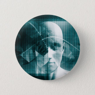 Medical Science Futuristic Technology as a Art 6 Cm Round Badge