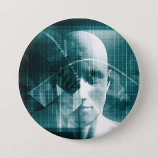 Medical Science Futuristic Technology as a Art 7.5 Cm Round Badge
