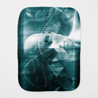 Medical Science Futuristic Technology as a Art Burp Cloth