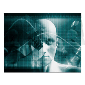 Medical Science Futuristic Technology as a Art Card