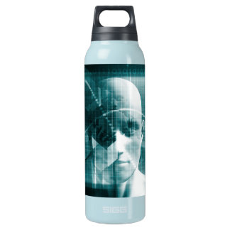 Medical Science Futuristic Technology as a Art Insulated Water Bottle