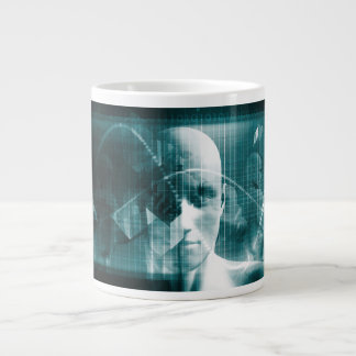 Medical Science Futuristic Technology as a Art Large Coffee Mug