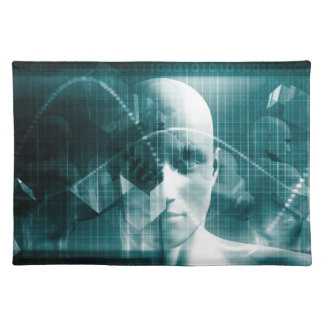 Medical Science Futuristic Technology as a Art Placemat