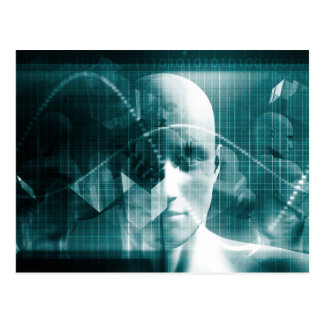 Medical Science Futuristic Technology as a Art Postcard