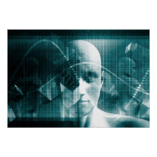 Medical Science Futuristic Technology as a Art Poster